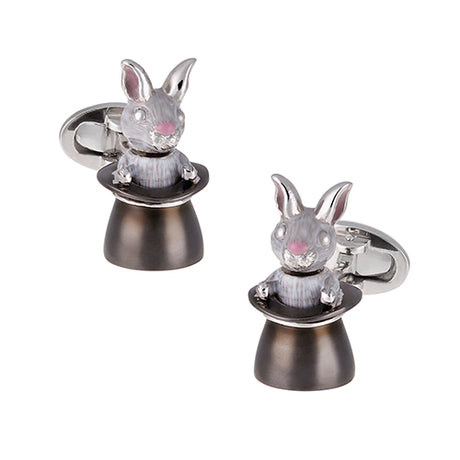Magic Hat and Rabbit Cufflinks - Jan Leslie Cufflinks and Accessories