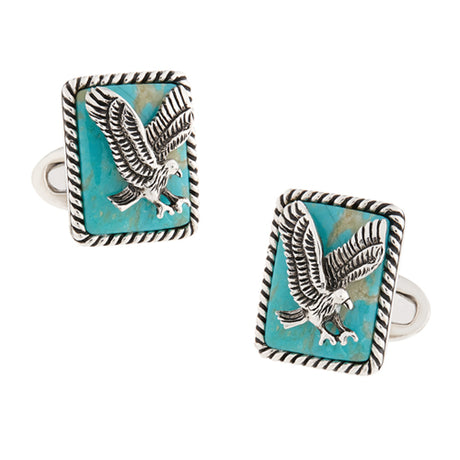 Gemstone Eagle Cufflinks - Jan Leslie Cufflinks and Accessories