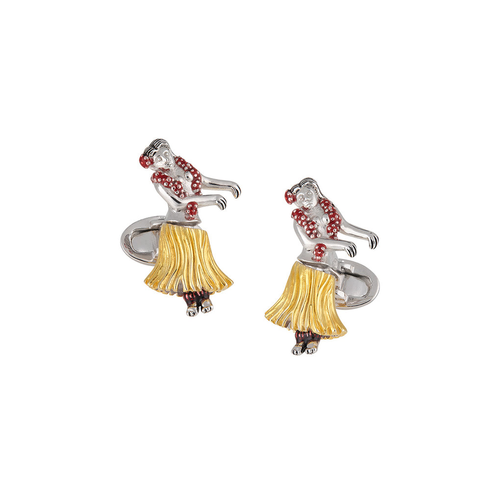 Dancing Hula Girl Cufflinks - Jan Leslie Cufflinks and Accessories