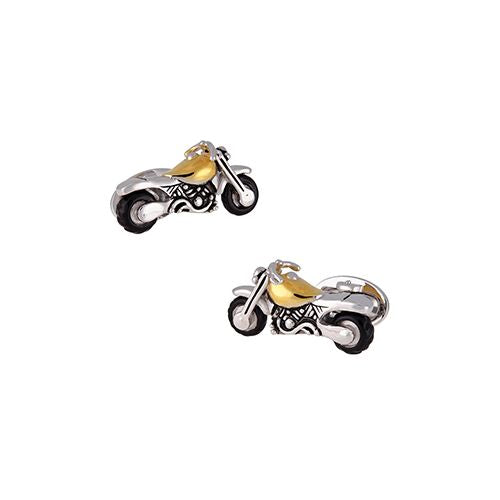 24K Vermeil Motorcycle Cufflinks - Jan Leslie Cufflinks and Accessories