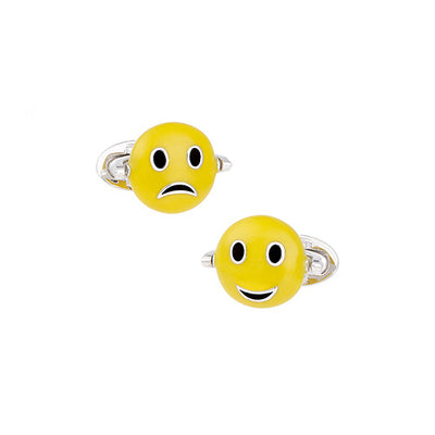 Flip Emoji Sterling Silver Cufflinks - Jan Leslie Cufflinks and Accessories