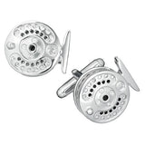 Fishing Reel Cufflinks in Sterling Silver by Jan Leslie