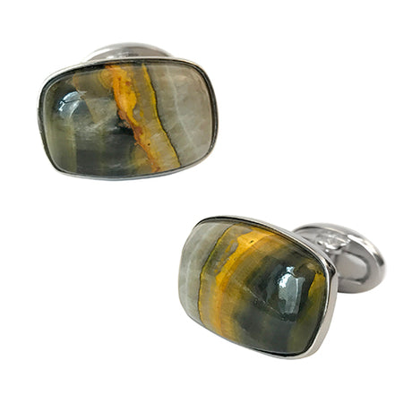 Bumblebee Jasper Cufflinks - Jan Leslie Cufflinks and Accessories