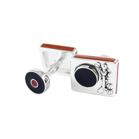 Spinning Record Player Cufflinks Cufflinks Jan Leslie Cufflinks and Accessories Jan Leslie