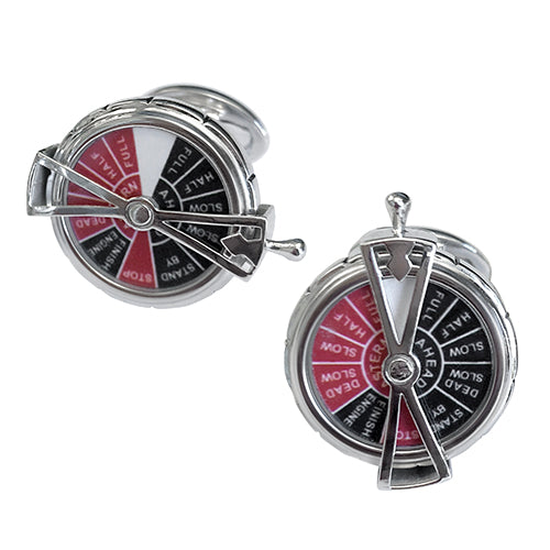 Boat Spinner with Moving Dial Sterling Silver Cufflinks - Jan Leslie Cufflinks and Accessories