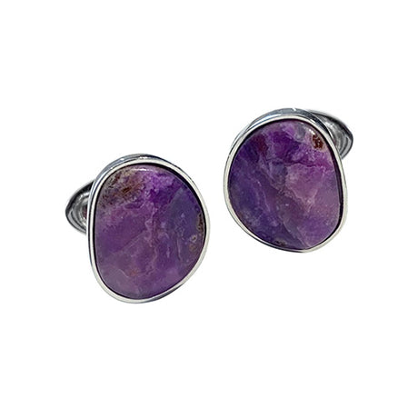 Sugilite Gemstone Sterling Silver Cufflinks