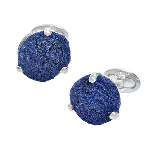 Azurite Suns Sterling Silver Cufflinks - Jan Leslie Cufflinks and Accessories