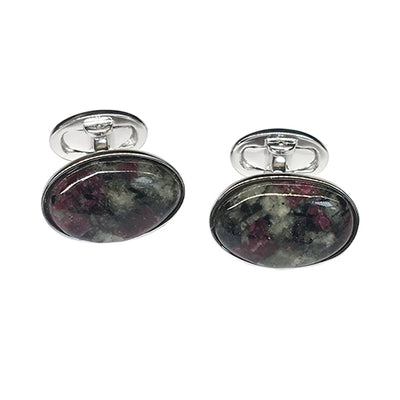 Eudialyte Sterling Silver Cufflinks - Jan Leslie Cufflinks and Accessories
