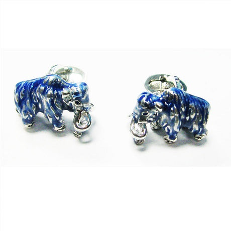 Woolly Mammoth Sterling Silver Cufflinks Cufflinks Jan Leslie Jan Leslie