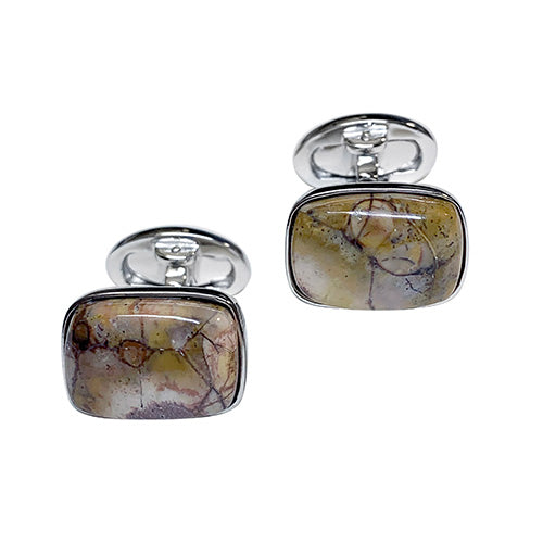 Bird's Eye Sterling SIlver Cufflinks