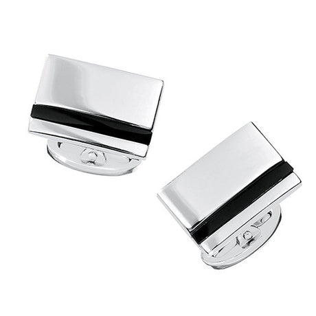 Silver and Onyx Cuff Links