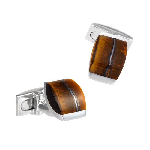 Tiger Iron Gemstone Cufflinks by Jan Leslie