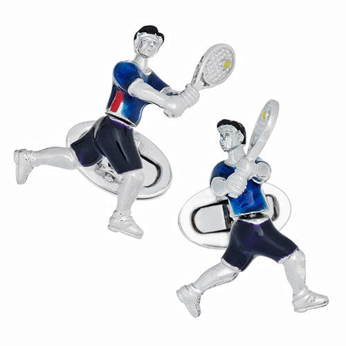 Tennis Player Cufflinks by Jan Leslie