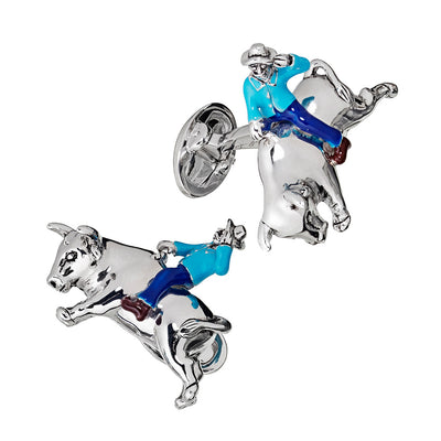 Rodeo Sterling SIlver Cufflinks Cufflinks Jan Leslie Cufflinks and Accessories Jan Leslie