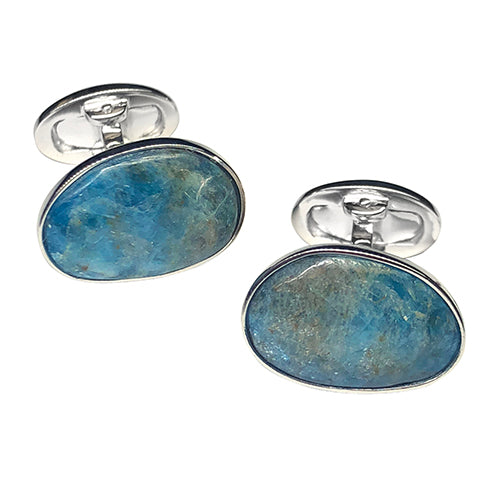 Apatite Sterling Silver Cufflinks - Jan Leslie Cufflinks and Accessories