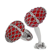 Articulated Egg Sterling Silver & Enamel Cufflinks