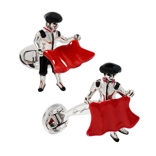 Moving Matador Sterling Silver Cufflinks