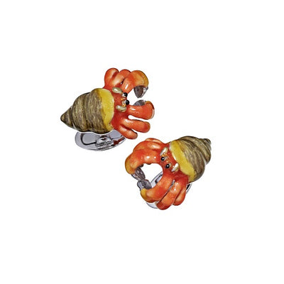 Hermit Crab Cufflinks - Jan Leslie Cufflinks and Accessories