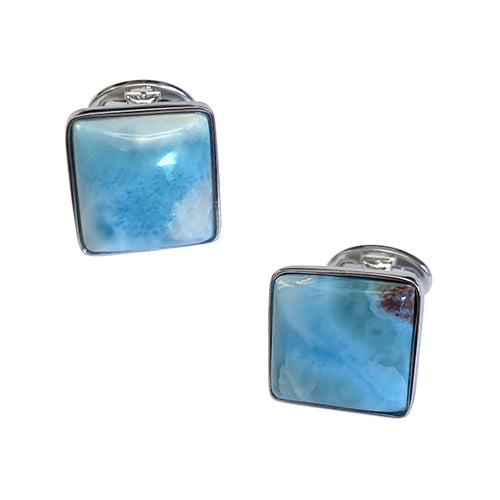 Larimar Sterling Silver Cufflinks - Jan Leslie Cufflinks and Accessories