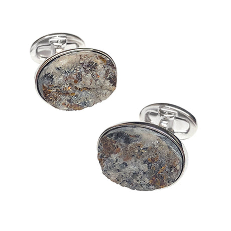 Astrophyllite Sterling Silver Cufflinks - Jan Leslie Cufflinks and Accessories