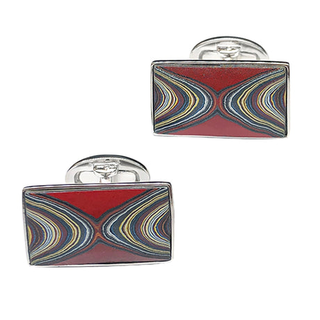 Fordite Sterling Silver Cufflinks - Jan Leslie Cufflinks and Accessories