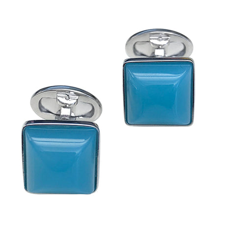Blue Chalcedony Sterling Silver Cufflinks - Jan Leslie Cufflinks and Accessories
