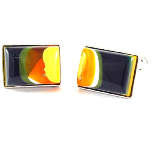Surfite Rectangle Sterling Silver Cufflinks