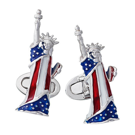 Statue of Liberty Sterling Silver Cufflinks