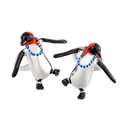 Party Penguin Sterling Silver Cufflinks Cufflinks Jan Leslie Jan Leslie