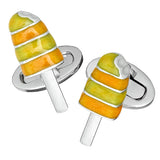 Orange Enamel Summer Popsicle Cufflinks by Jan Leslie