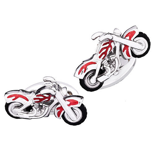 Motorcycle Cufflinks by Jan Leslie