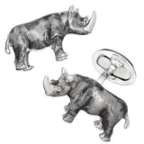 Grey Rhino Cufflinks by Jan Leslie