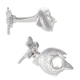 Sterling Silver Salmon with Dragon Fly Cufflinks by Jan Leslie
