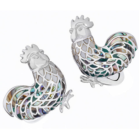 Gemstone Rooster Cufflinks