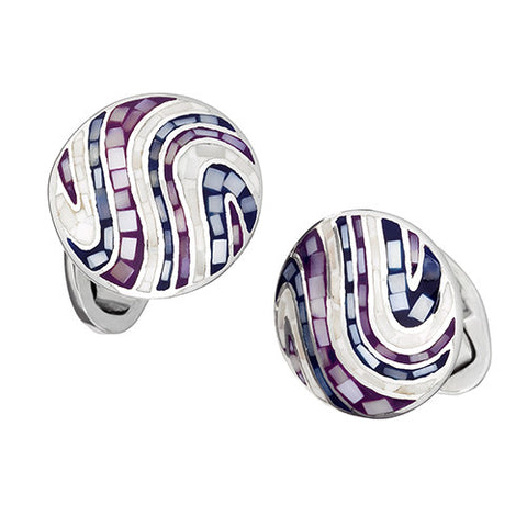 Mother-of-Pearl Swirl Cufflinks