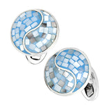 Mother of Pearl Gemstone Yin Yang Cufflinks by Jan Leslie