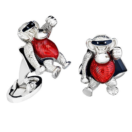 Novelty Super Hero Monkey Cufflinks by Jan Leslie