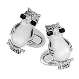 Novelty Owl and Sunglass Cufflinks by Jan Leslie