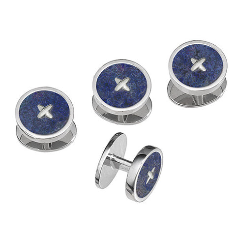 Gemstone Button Tuxedo Studs Only in Red or Blue