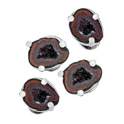 Druzy Crystallized Gemstone Tuxedo Studs - Jan Leslie Cufflinks and Accessories