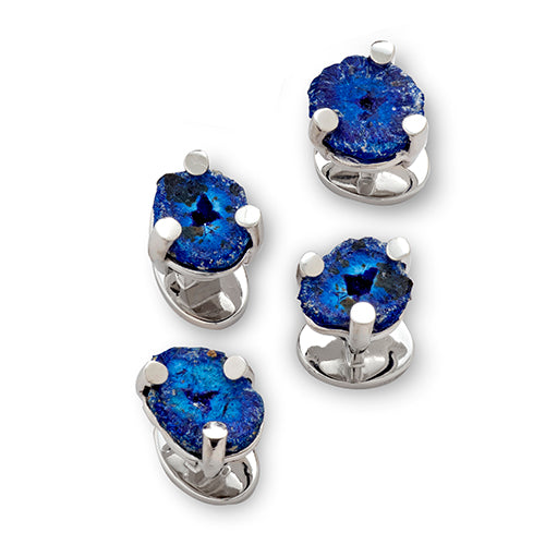Azurite Tuxedo Studs - Jan Leslie Cufflinks and Accessories