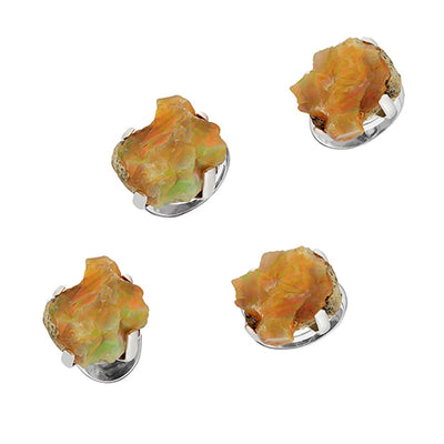 Ethiopian Opal Tuxedo Studs - Jan Leslie Cufflinks and Accessories