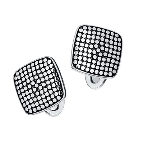 Silver Cuff Links: Square