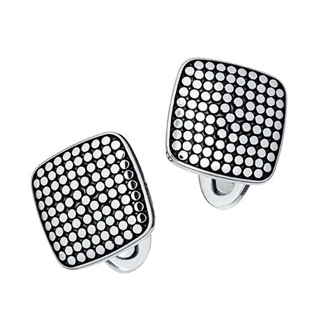 Silver Dotted Square Cufflinks