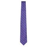 Purple Signature Silk Sailboat Necktie by Jan Leslie
