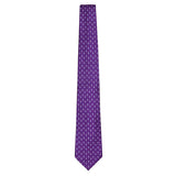 Purple Signature Silk Bee Necktie by Jan Leslie