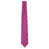 Raspberry Signature Silk Alligator Necktie by Jan Leslie