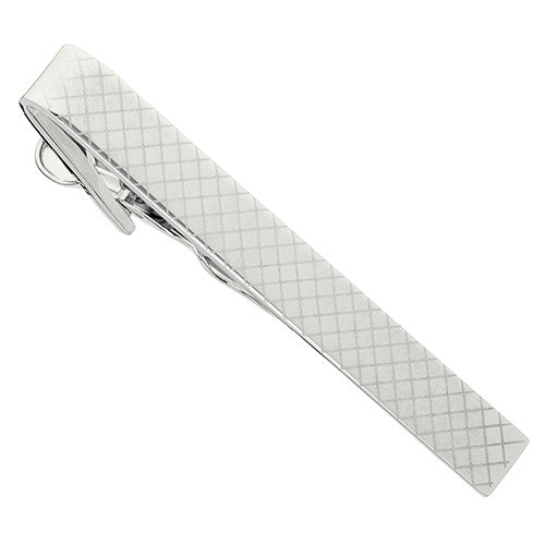 Cross Cross Pattern Sterling Silver Tie Clip by Jan Leslie