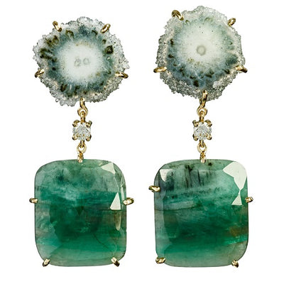 Valle de Cocora 18K One of a Kind Earrings Bespoke Earrings Jan Leslie Jan Leslie