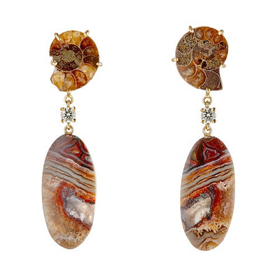 Atacama 18K One of a Kind Earrings Bespoke Earrings Jan Leslie Jan Leslie